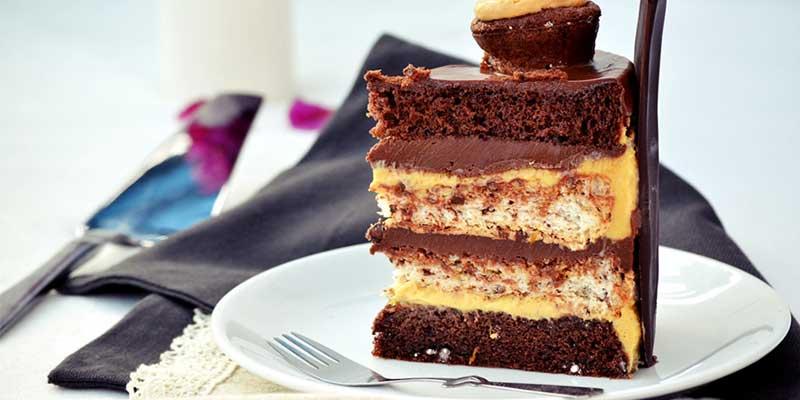 Tort fara gluten cu ciocolata portocale si caramel