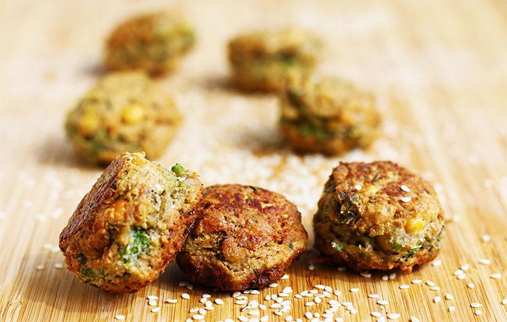Mini Falafel Bites Recipe Aperitiv Mini Falafel