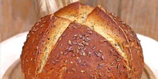 Paine irlandeza cu seminte de in, fara gluten, framantare sau dospire