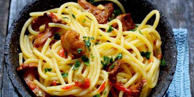 Spaghete fara gluten cu galbiori