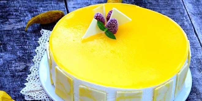 Tort fara gluten cu mousse de mango si mousse de cocos |