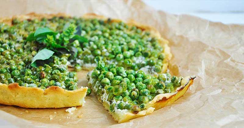 gluten free vegan green pea tart mint tarta fara gluten cu mazare menta
