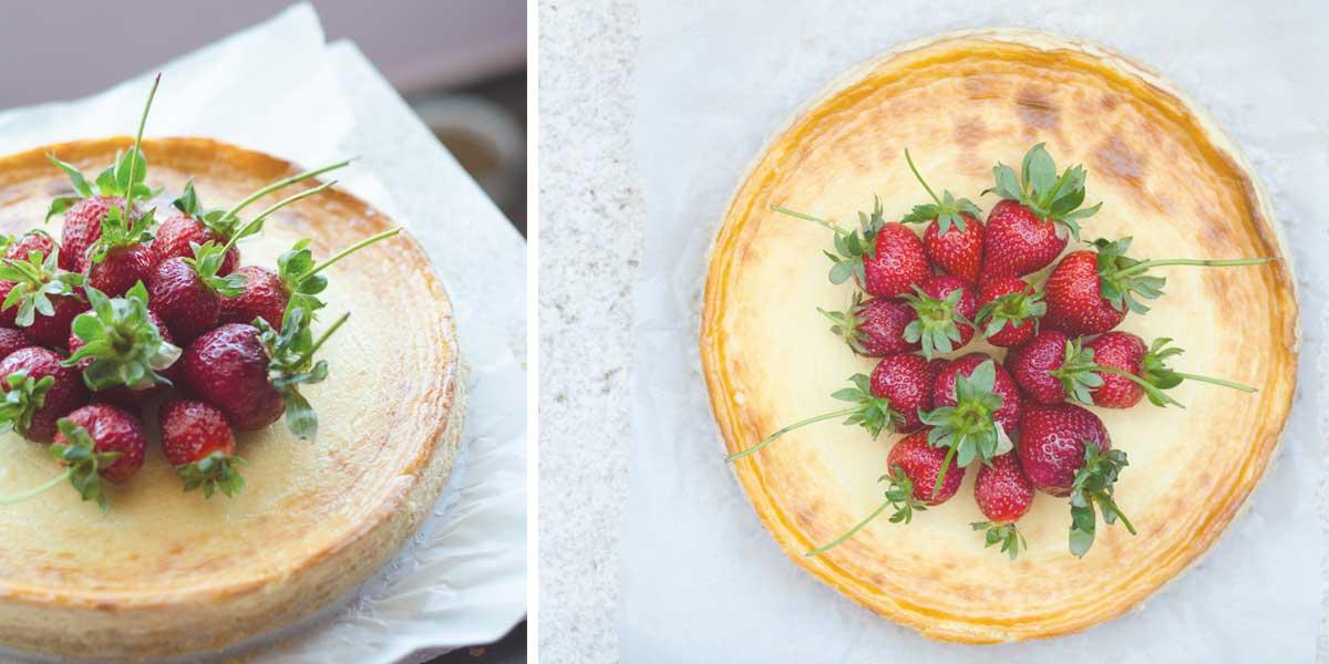cheesecake fara-gluten lavanda