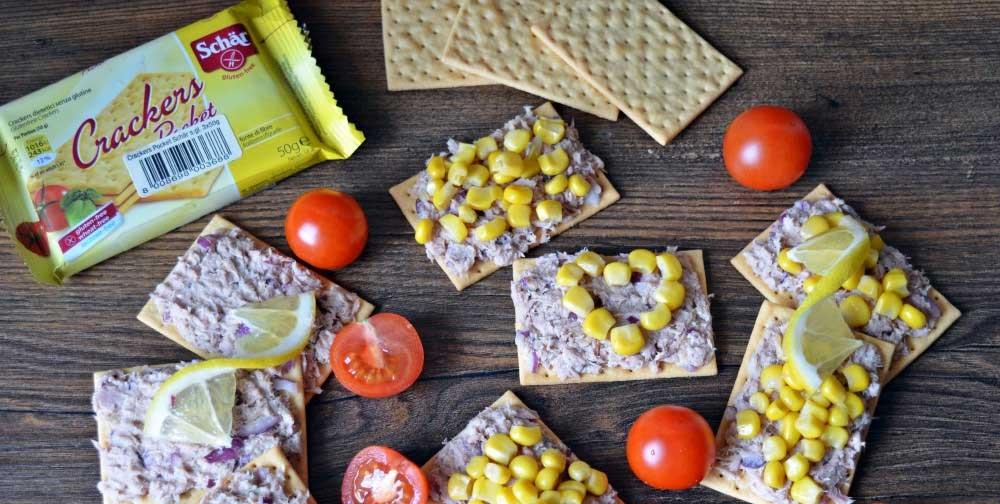 Crackers fara gluten cu ton