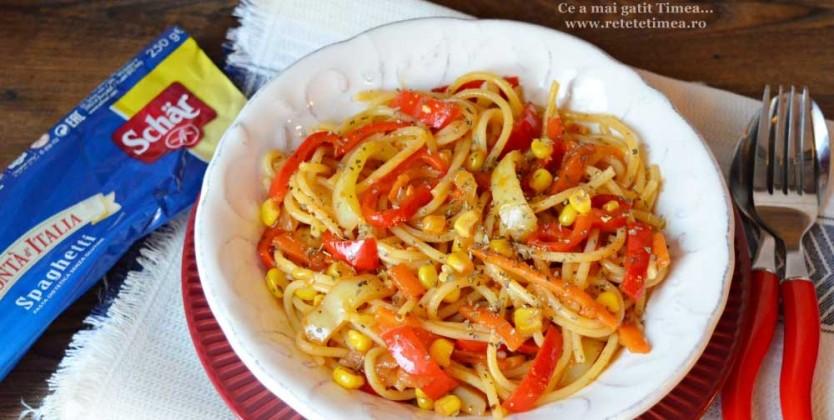 Spaghete fara gluten cu legume