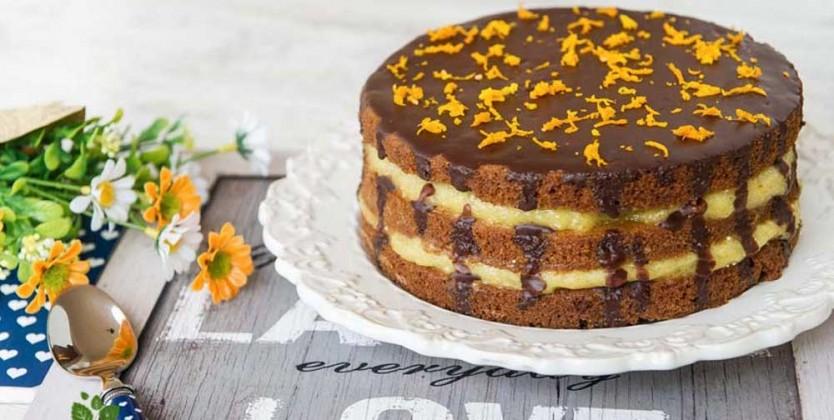 Tort fara gluten cu portocale si ciocolata