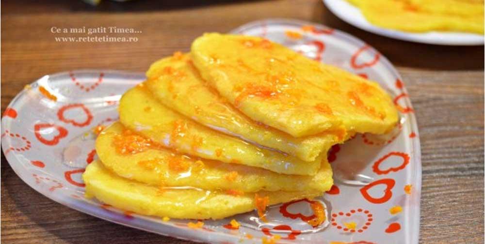 Clatite fara gluten cu portocale si miere