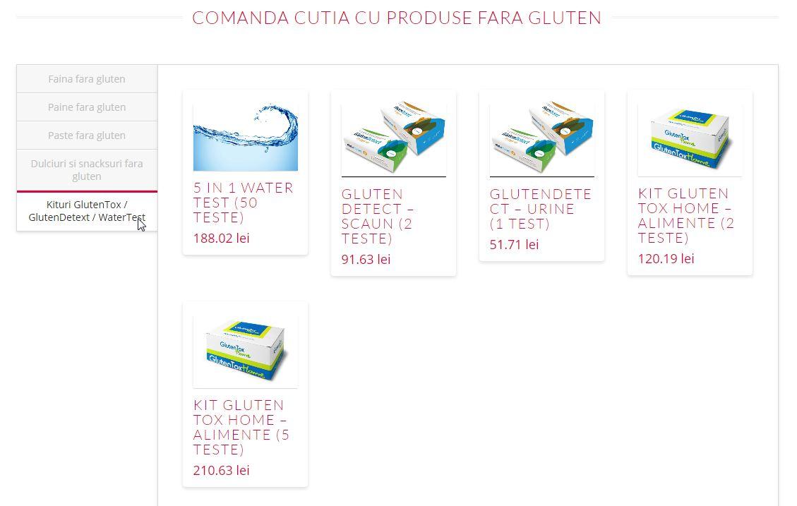 comanda produse fara gluten