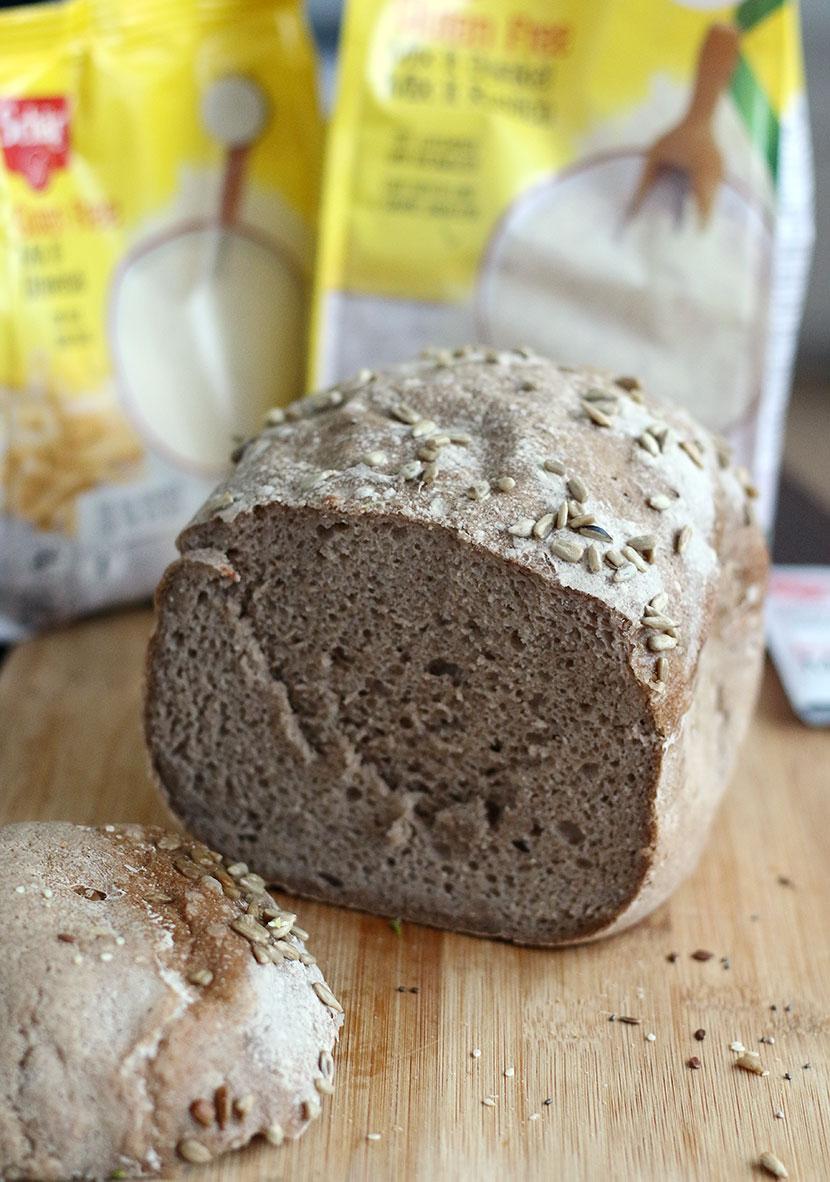 Reteta de paine fara gluten mixta felie