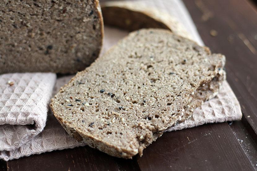 Reteta paine fara gluten integrala felie