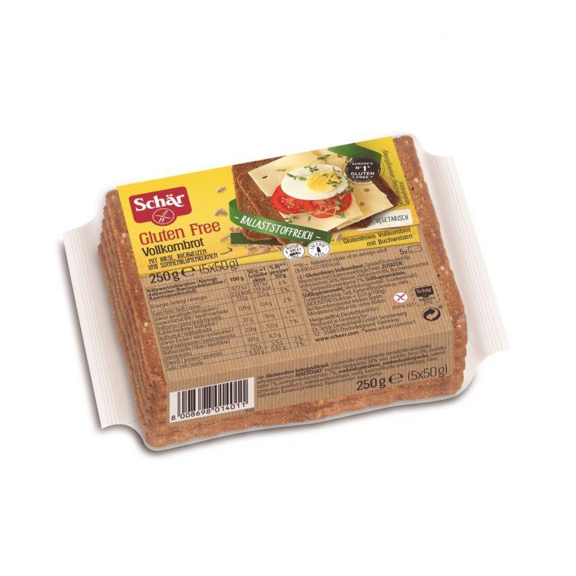 Vollkornbrot - Paine multicereale umeda cu hrisca fara gluten x 250 g